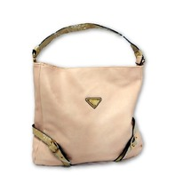 "Fashion Handbag SL10077, 20"" Women's Hobo Shoulder Bag Tote Purse, 2-Tone, Peach"