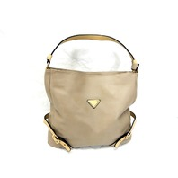 "Fashion Handbag SL10077, 20"" Women's Hobo Shoulder Bag Tote Purse, 2-Tone, Taupe"