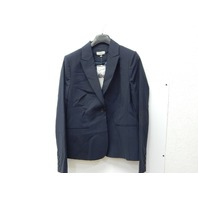 Rekucci Collection Women's Blazer With Single Button Reese Pocket (12,Navy)