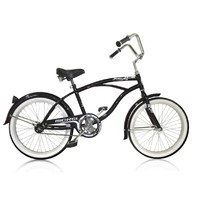 "Micargi JETTA-M-BK Men's 20"" Beach Cruiser Bicycle Bike, Black"