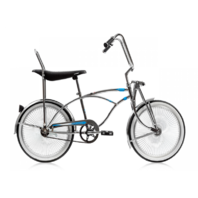 "Micargi PRINCE-CP Men's 20"" Low Rider Vintage Hi Rise Bars Bicycle Bike, Chrome"