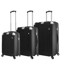 Mia Toro Italy M1303-GRT Acerra Hardside 3pc Spinner Luggage Suitcase, Graphite