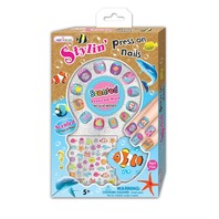 Hot Focus 033OB Scented Stylin' Press On Nails, Ocean Great Stocking Stuffer