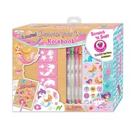 Hot Focus 260MM Scented Decorate Your Own Notebook Scratch n Sniff Pens, Mermaid