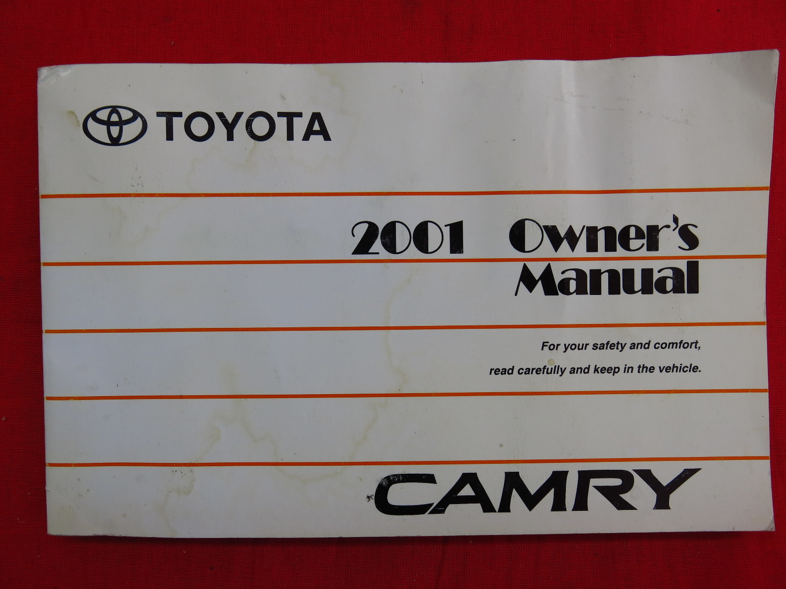 2001 toyota camry owners manual guide book