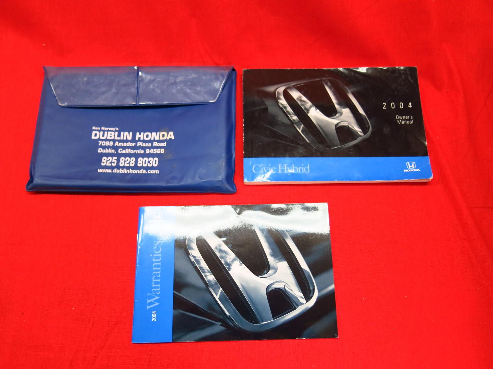 2004 Honda Civic Hatchback - Owner s Manual (215 pages)