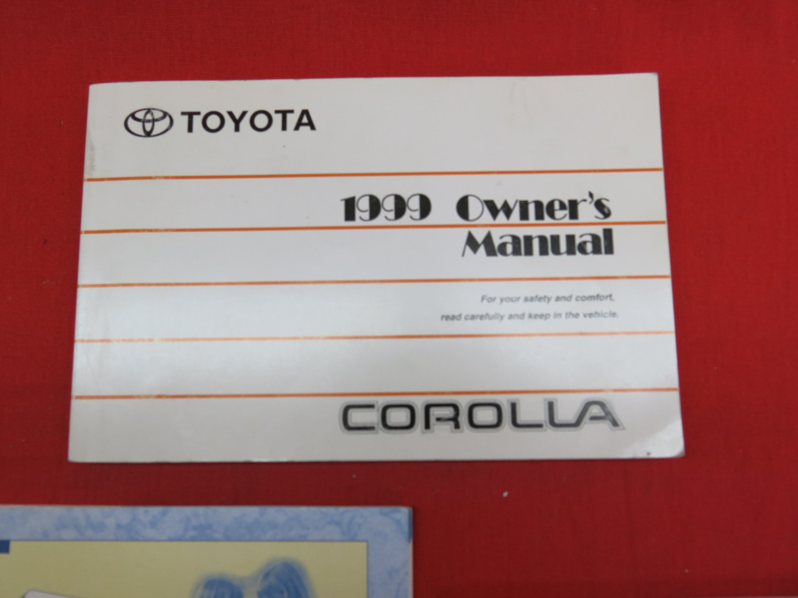 1999 toyota corolla owners manual guide book ebay. Black Bedroom Furniture Sets. Home Design Ideas
