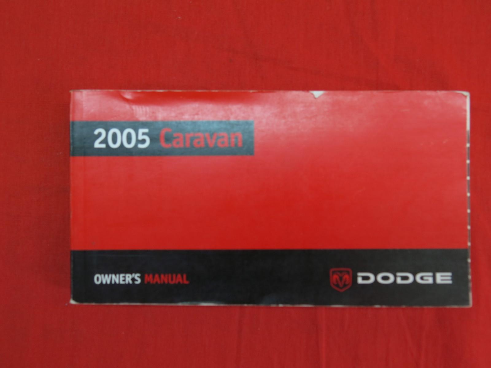 2005 Dodge Caravan Owners Manual Guide Book