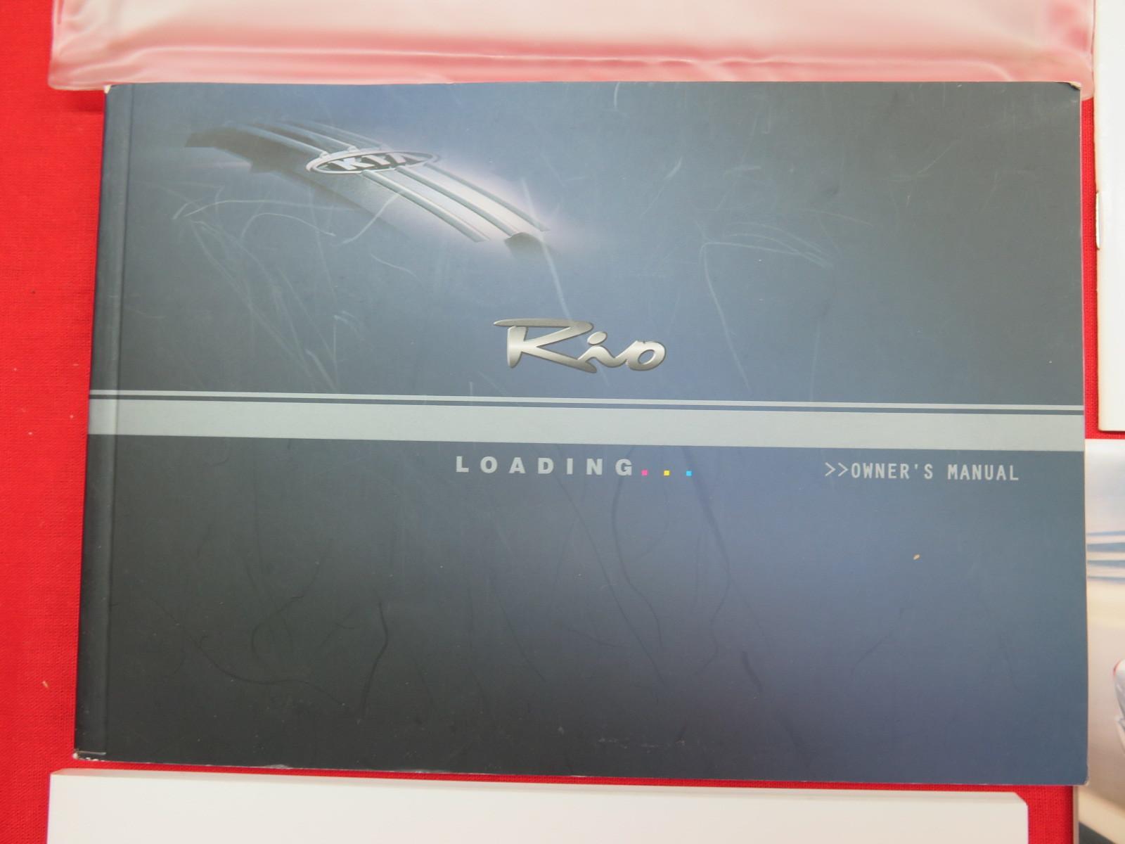 2005 kia rio owners manual pdf