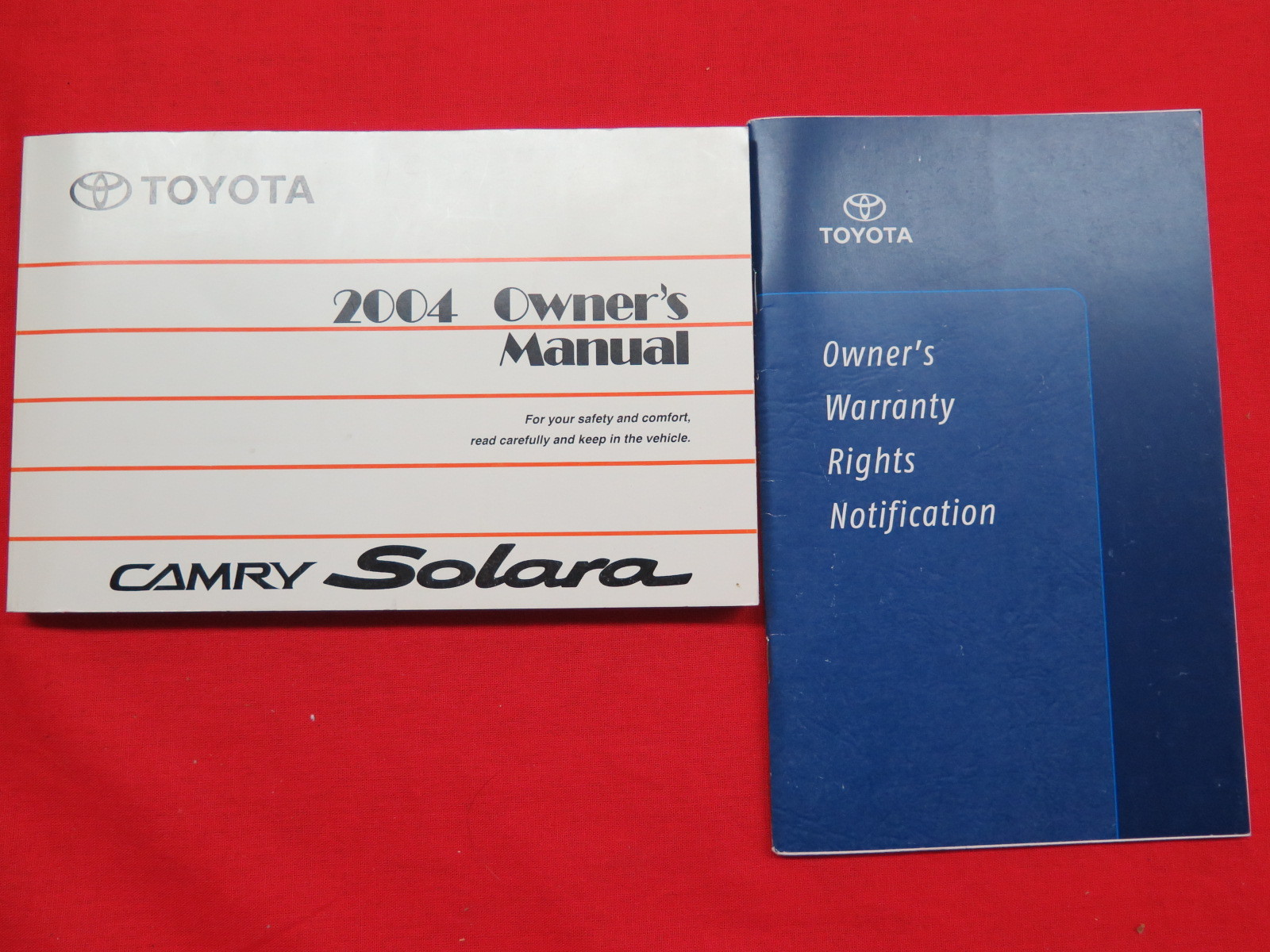 2004 toyota camry solara owners manual guide book. Black Bedroom Furniture Sets. Home Design Ideas