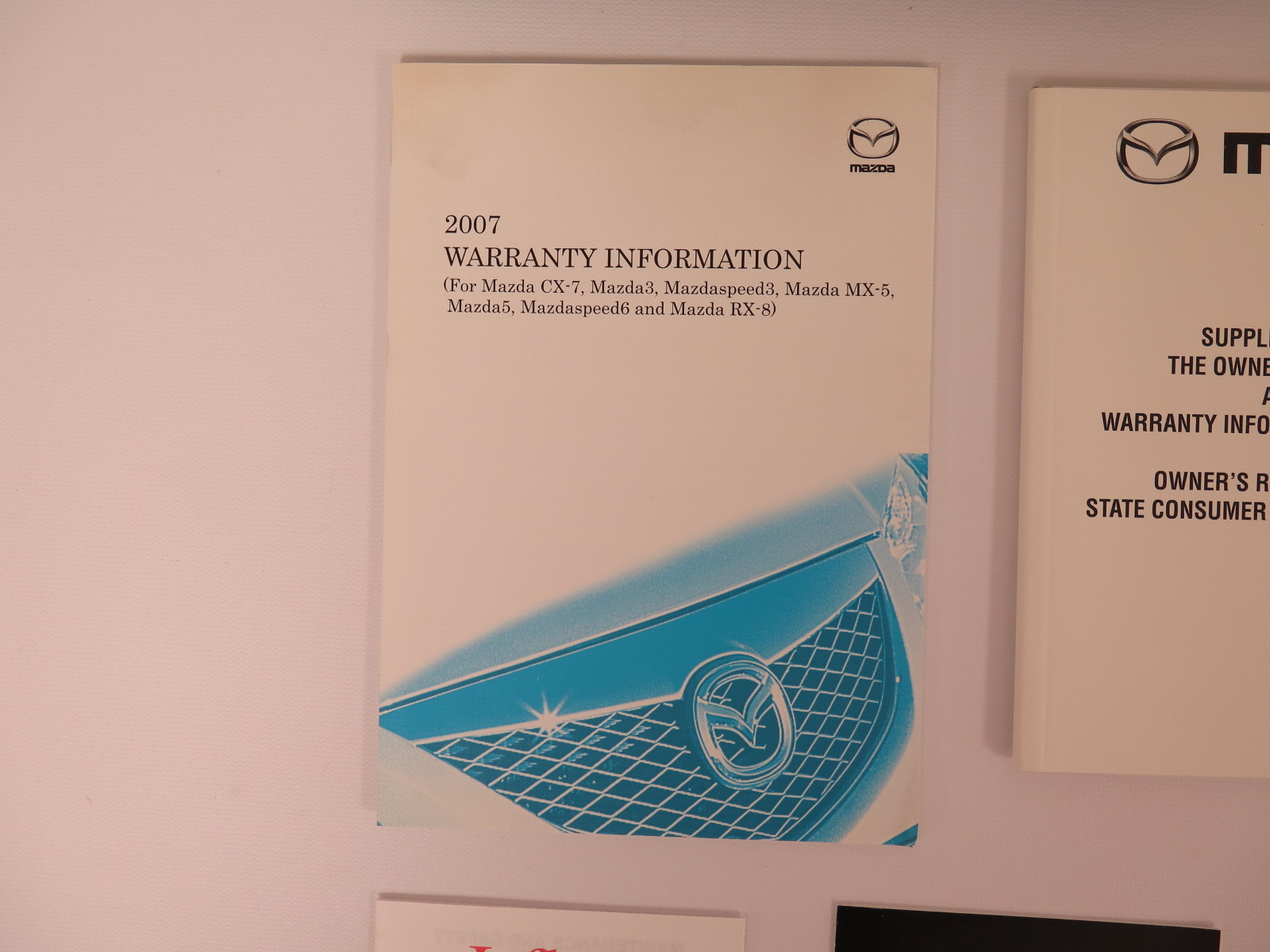 2007 Mazda 3 Owners Manual Book