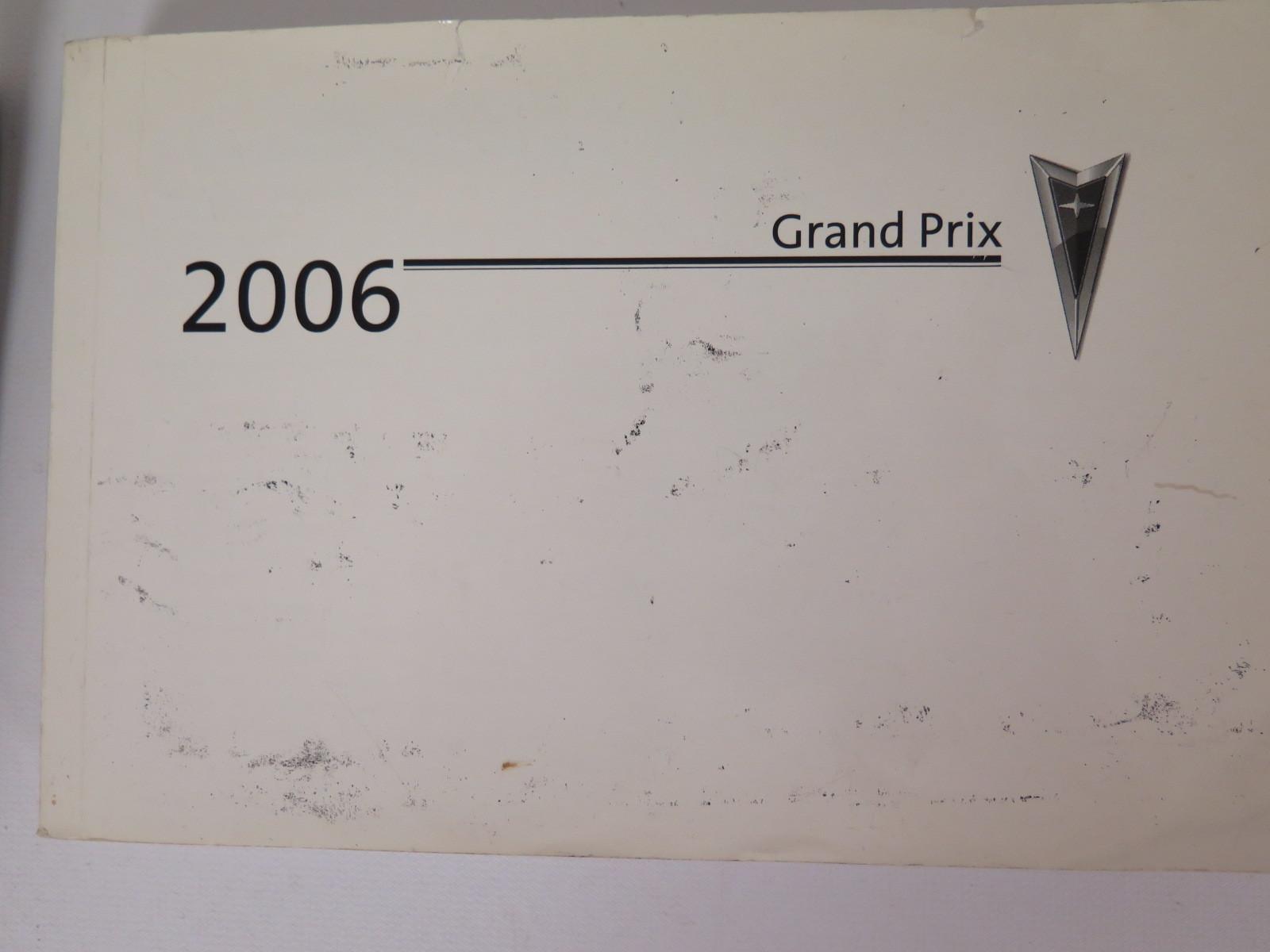 2006 pontiac grand prix owners manual book bashful yak rh bashfulyak com 2006 Pontiac Grand Prix Interior 2006 Pontiac Grand Prix Problems