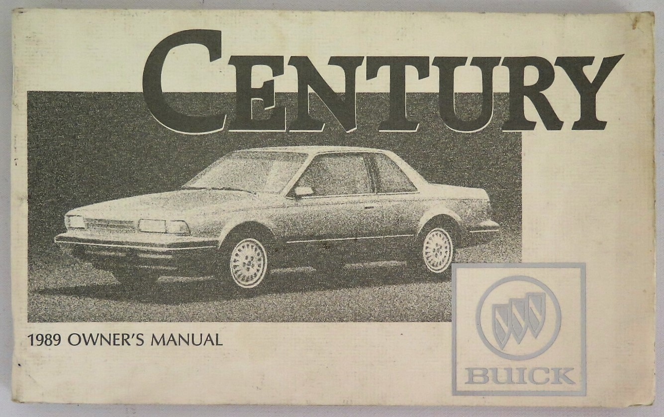 1989 buick century owners manual browse manual guides u2022 rh trufflefries co 1988 Buick Regal 1989 buick regal repair manual