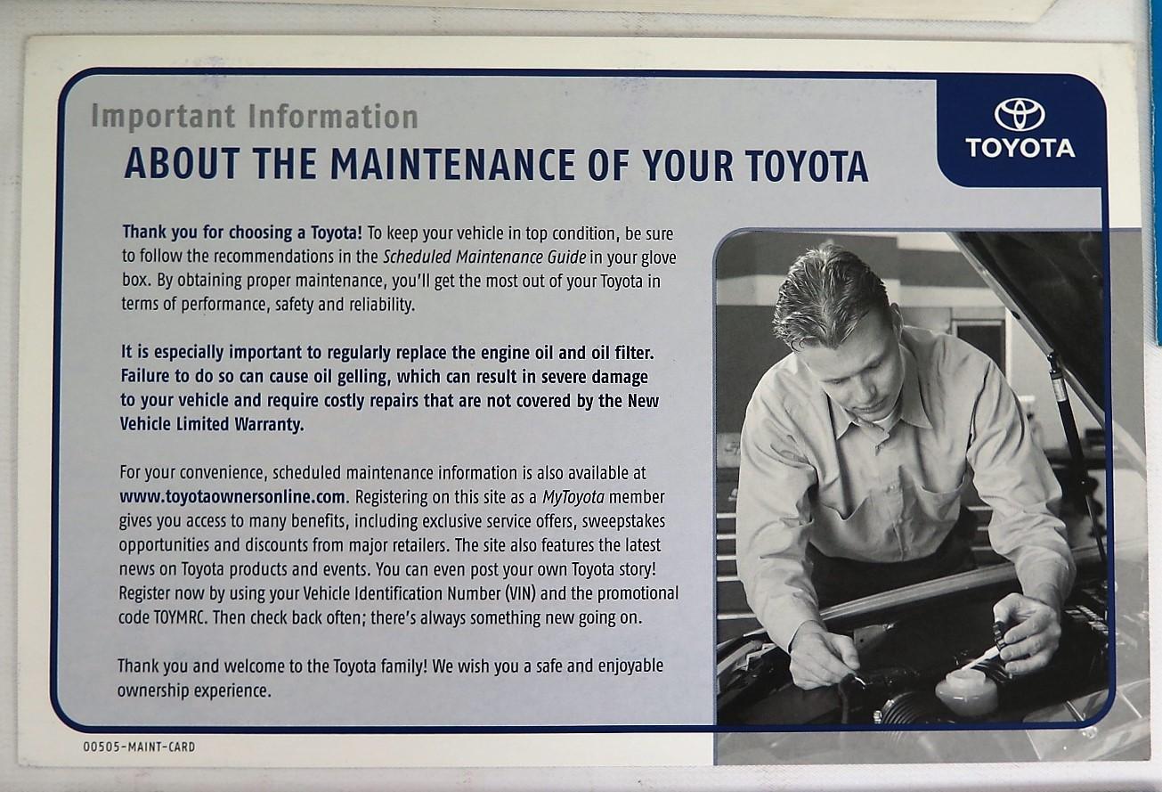 2003 toyota corolla matrix owners manual book bashful yak rh bashfulyak com Toyota Service Toyota Service Coupons