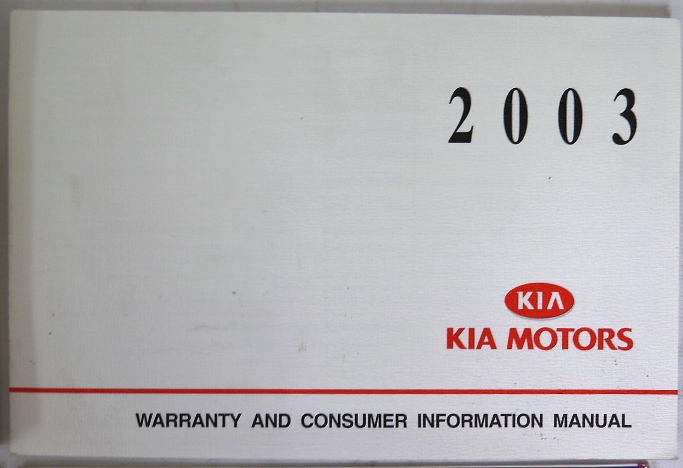 2003 kia spectra owners manual book bashful yak rh bashfulyak com kia spectra 2003 user manual 2003 Kia Spectra Problem