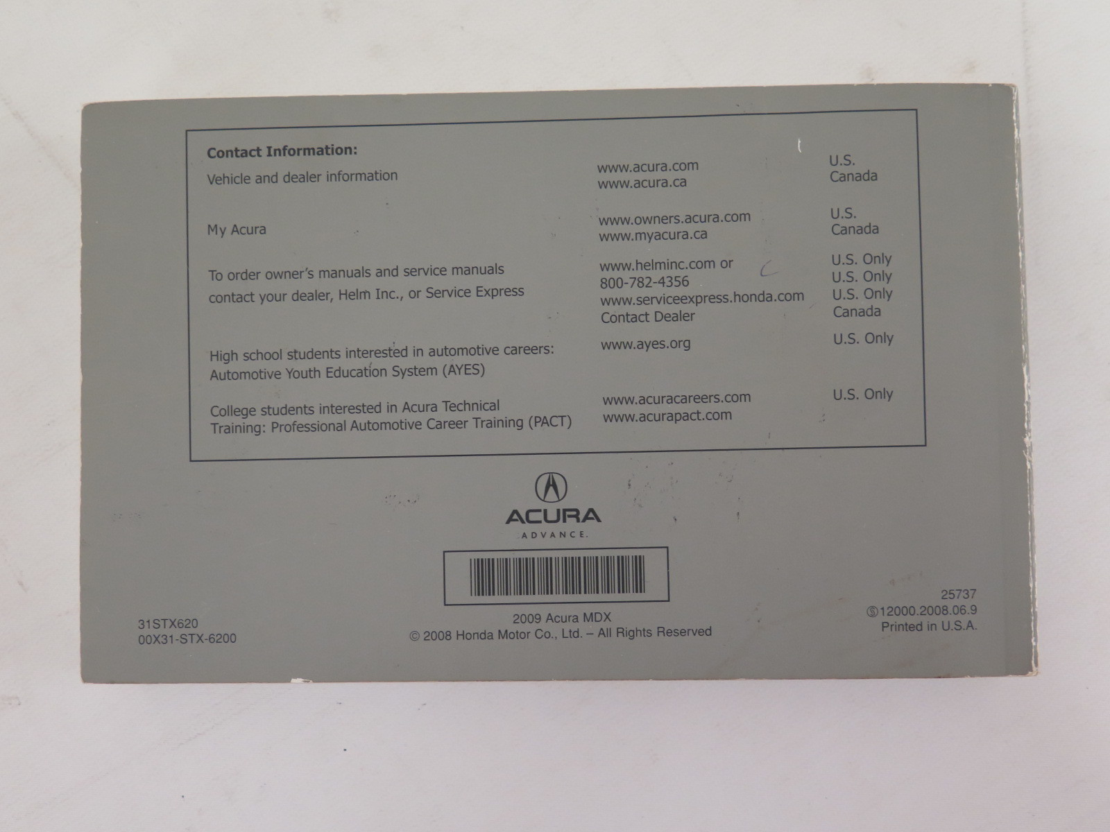2009 acura mdx owners manual guide book