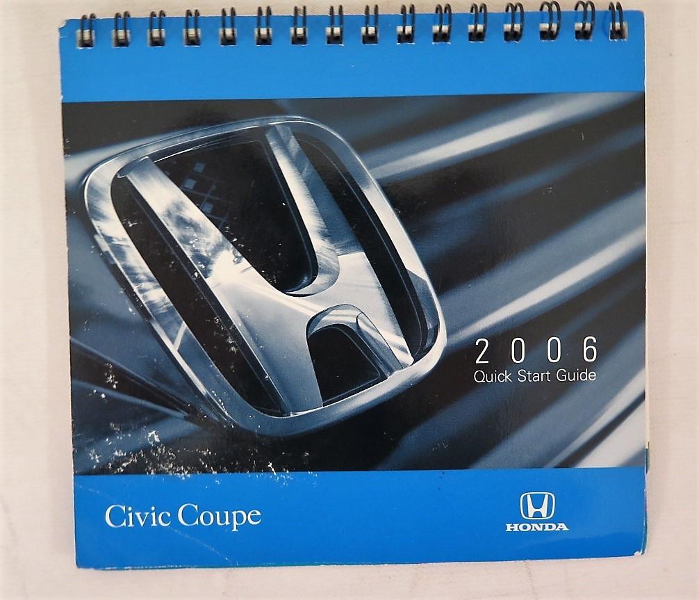 2006 honda civic coupe owners manual book bashful yak rh bashfulyak com 2006 Honda Civic Maintenance Manual Blue Honda Civic 2006 Manual