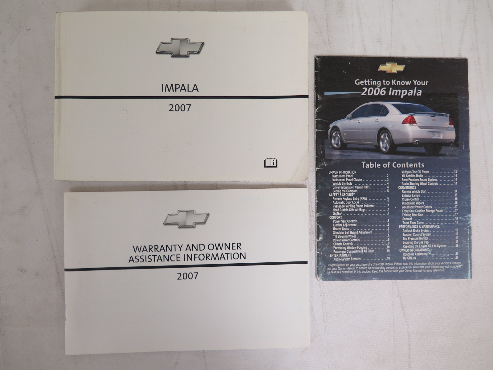 2007 chevrolet impala owners manual guide book