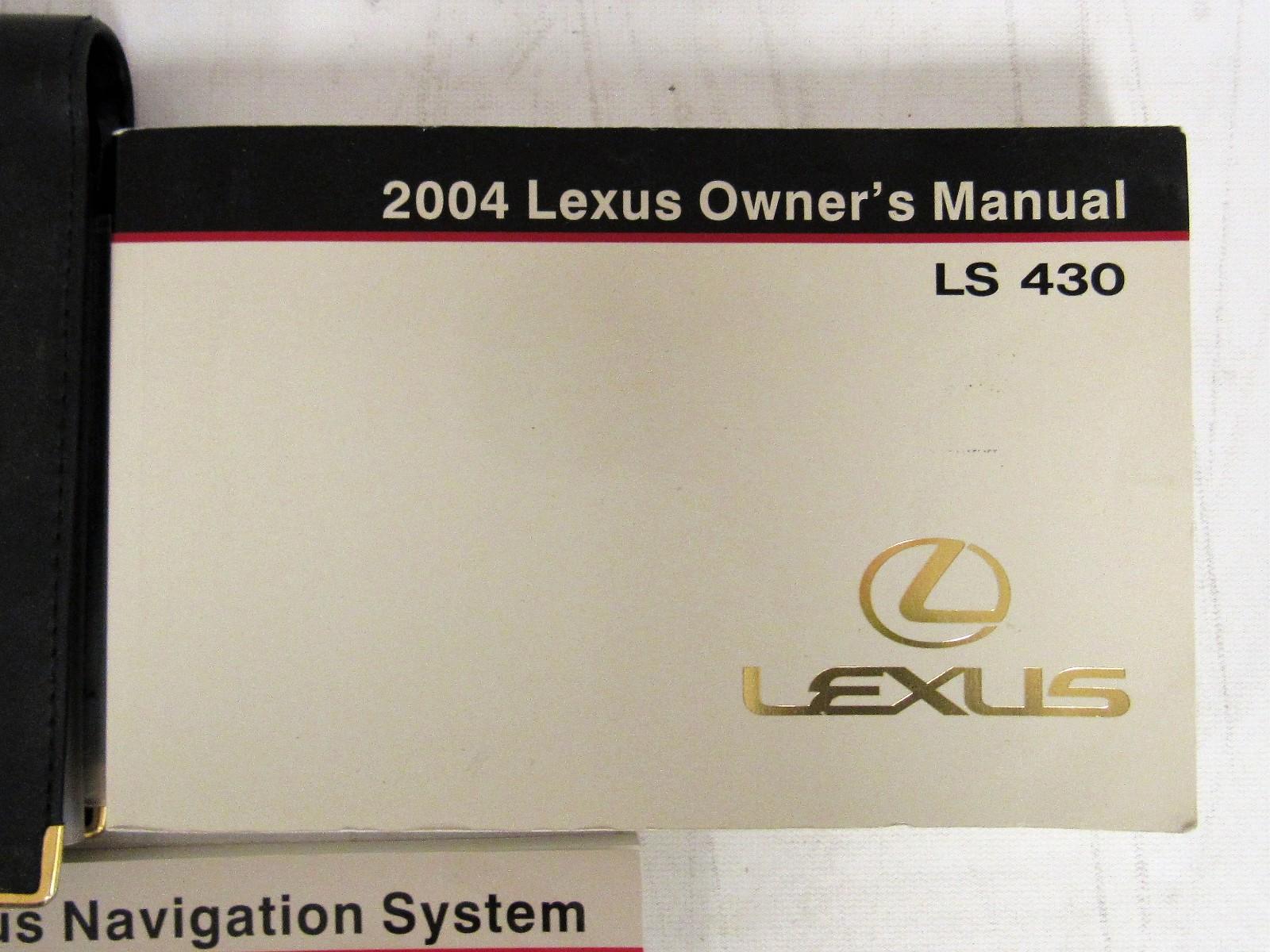 2004 lexus ls 430 owners manual book bashful yak rh bashfulyak com 2004 lexus ls430 owners manual pdf 2004 lexus gs300 owners manual