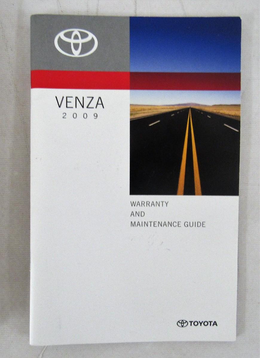 2009 toyota venza owners manual book bashful yak rh bashfulyak com 2009 Toyota Venza V6 2009 toyota venza owners manual pdf