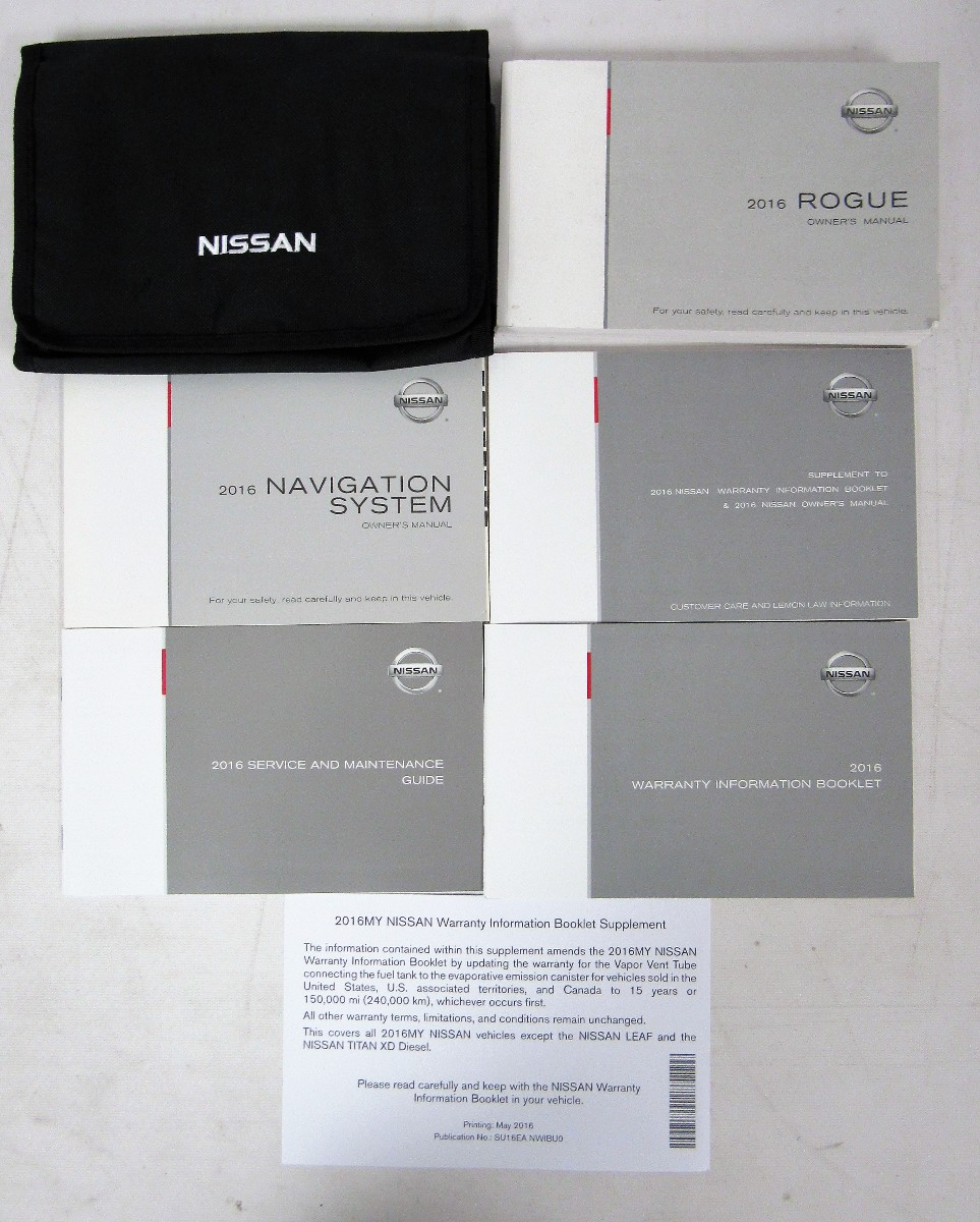 2016 nissan rogue owners manual guide book