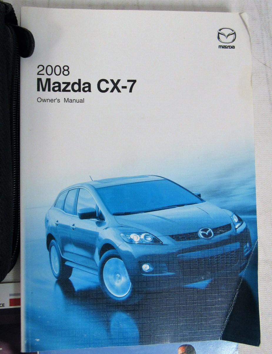 2008 mazda cx 7 owners manual book bashful yak rh bashfulyak com 2008 Mazda 3 Hatchback 2008 Mazda 3 White