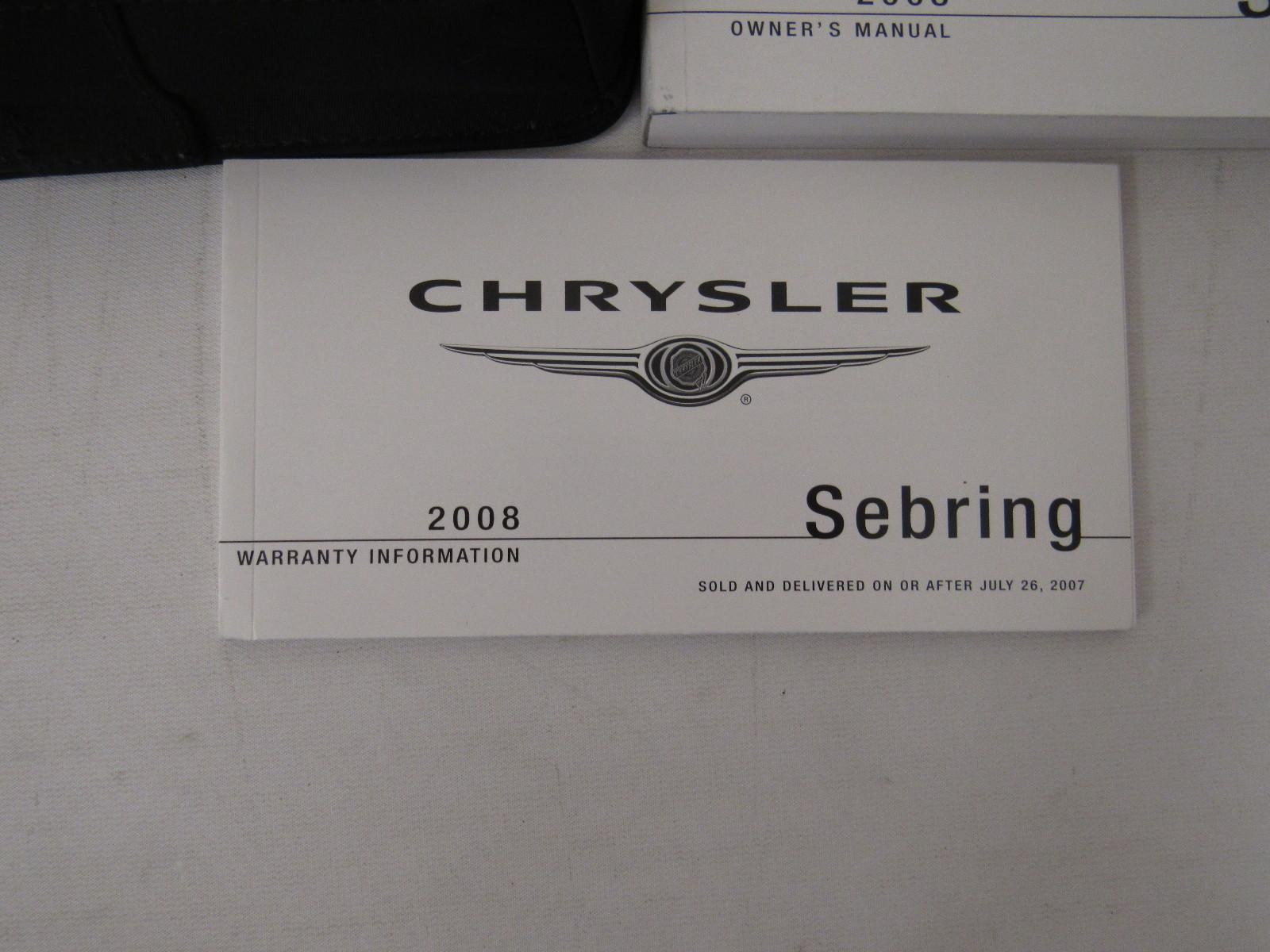 2008 chrysler sebring owners manual book bashful yak rh bashfulyak com chrysler sebring owners manual chrysler sebring owners manual 2008