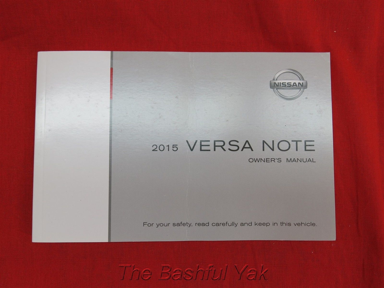 2015 Nissan Versa Note Owners Manual Guide Book