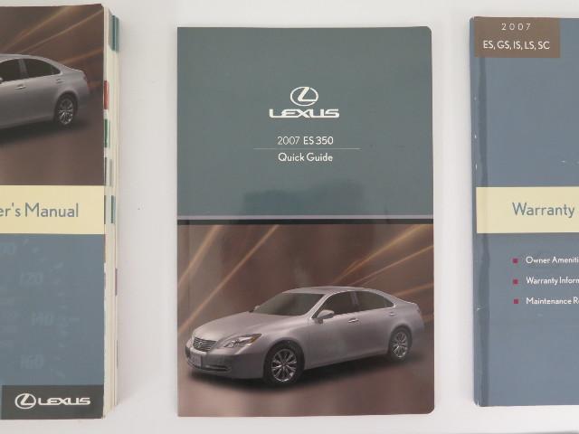 07 lexus es 350 warranty
