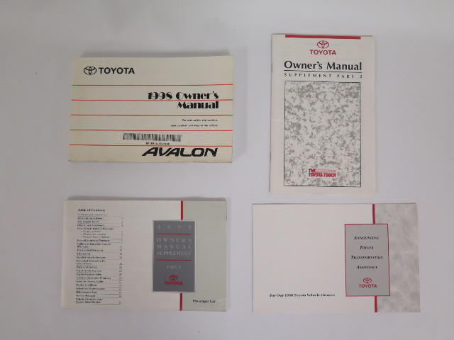 1998 toyota avalon owners manual book bashful yak rh bashfulyak com 1997 Toyota Avalon 1997 Toyota Avalon