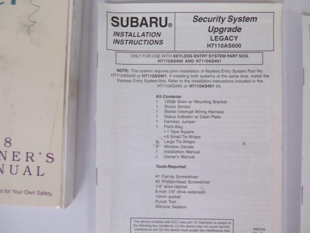 find 1998 subaru legacy owners manual guide book motorcycle in magna rh 2040 parts com 98 subaru legacy service manual pdf 1998 subaru legacy gt owners manual