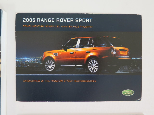 2006 Land Rover Range Rover Sport Owners Manual Guide Book border=