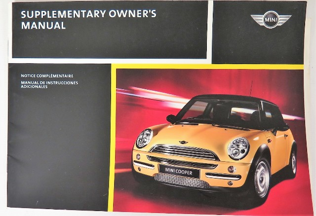 2004 mini cooper cooper s owners manual guide book ebay. Black Bedroom Furniture Sets. Home Design Ideas