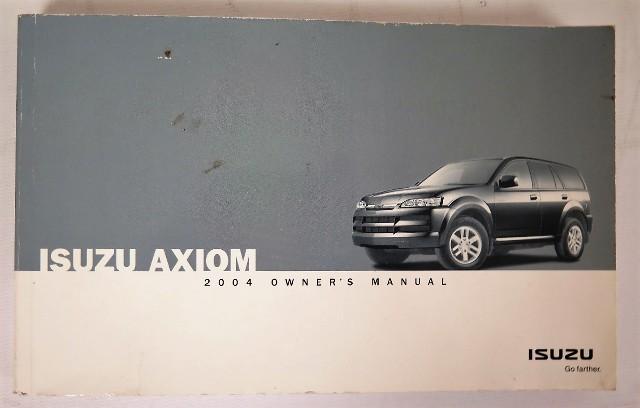 2004 isuzu axiom owners manual book bashful yak rh bashfulyak com