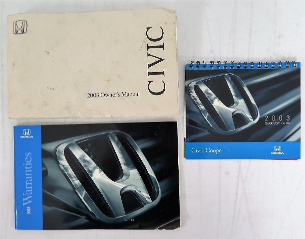 2003 honda civic coupe owners manual book bashful yak rh bashfulyak com 2003 honda civic si owners manual pdf 2003 honda civic owners manual pdf