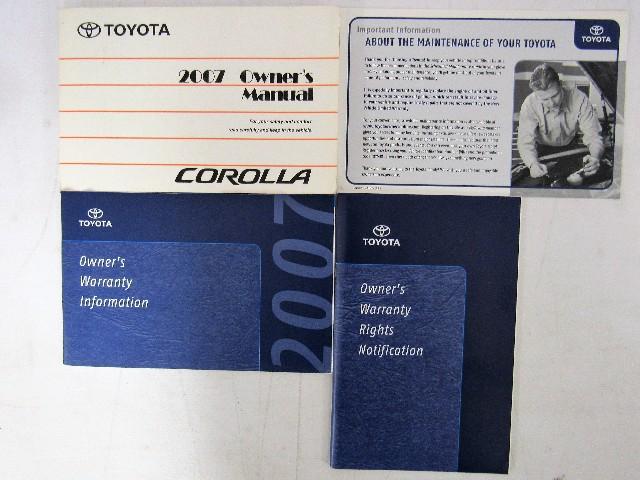 2007 toyota corolla owners manual book bashful yak rh bashfulyak com 2007 toyota corolla owners manual pdf 2007 toyota corolla user manual