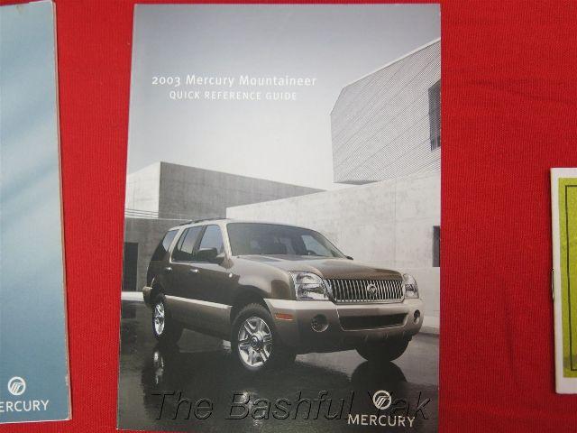 2003 mercury mountaineer owners manual