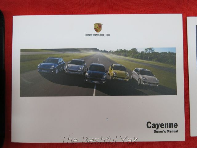 find 2011 porsche cayenne owners manual with case motorcycle in rh 2040 parts com owners manual porsche cayenne 2006 service manual porsche cayenne