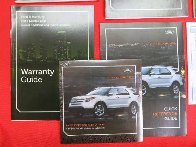 2011 Ford Explorer Owners Manual Set  FREE SHIPPING