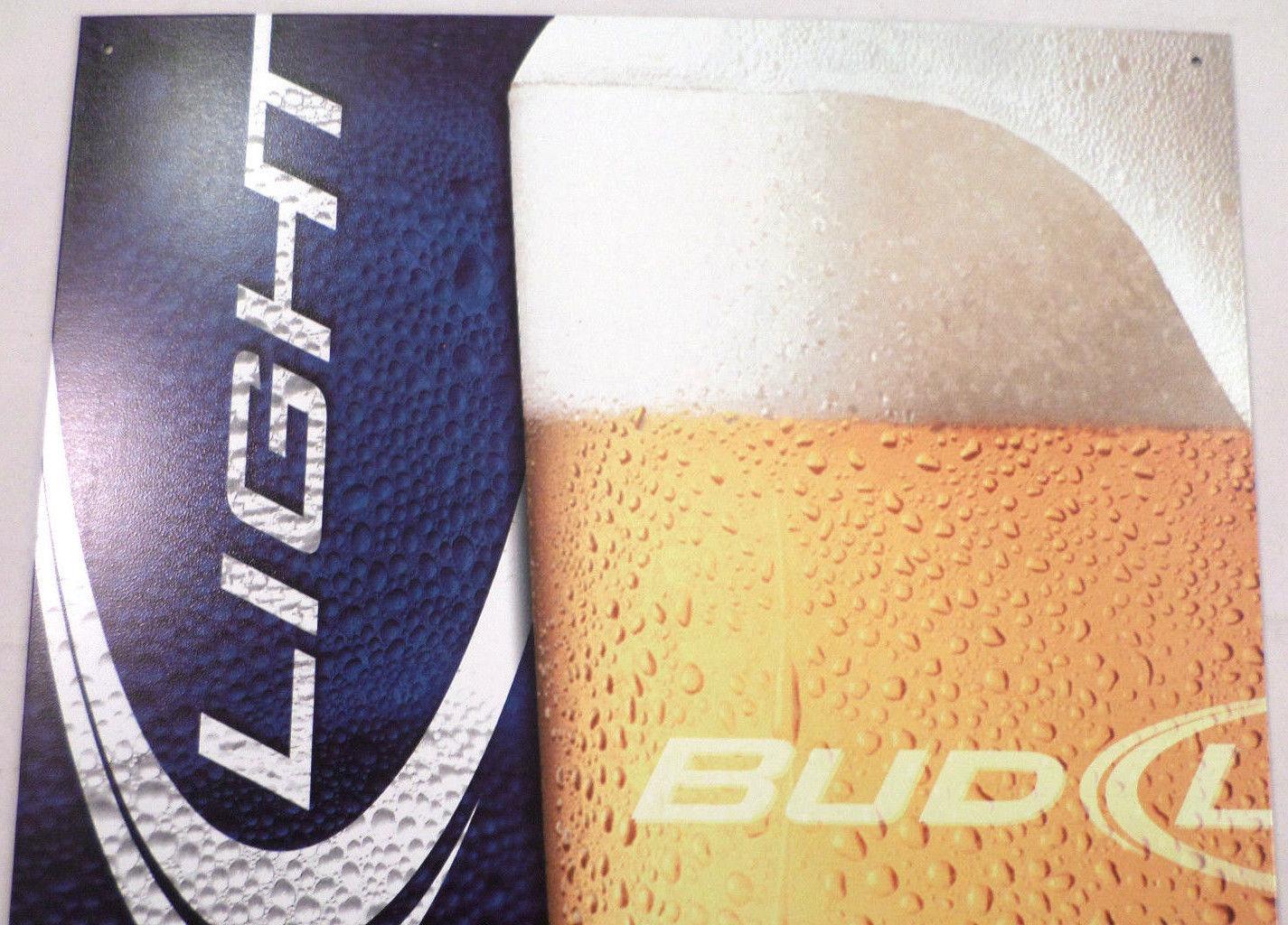 Bud Light Man Cave Signs : Budweiser bud light beer frosty glass tin sign man cave