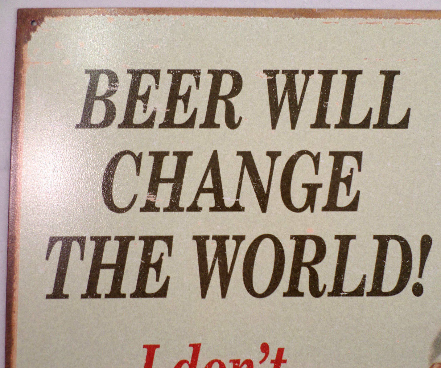 Man Cave Wall Art beer will change the world tin sign man cave wall art bar related