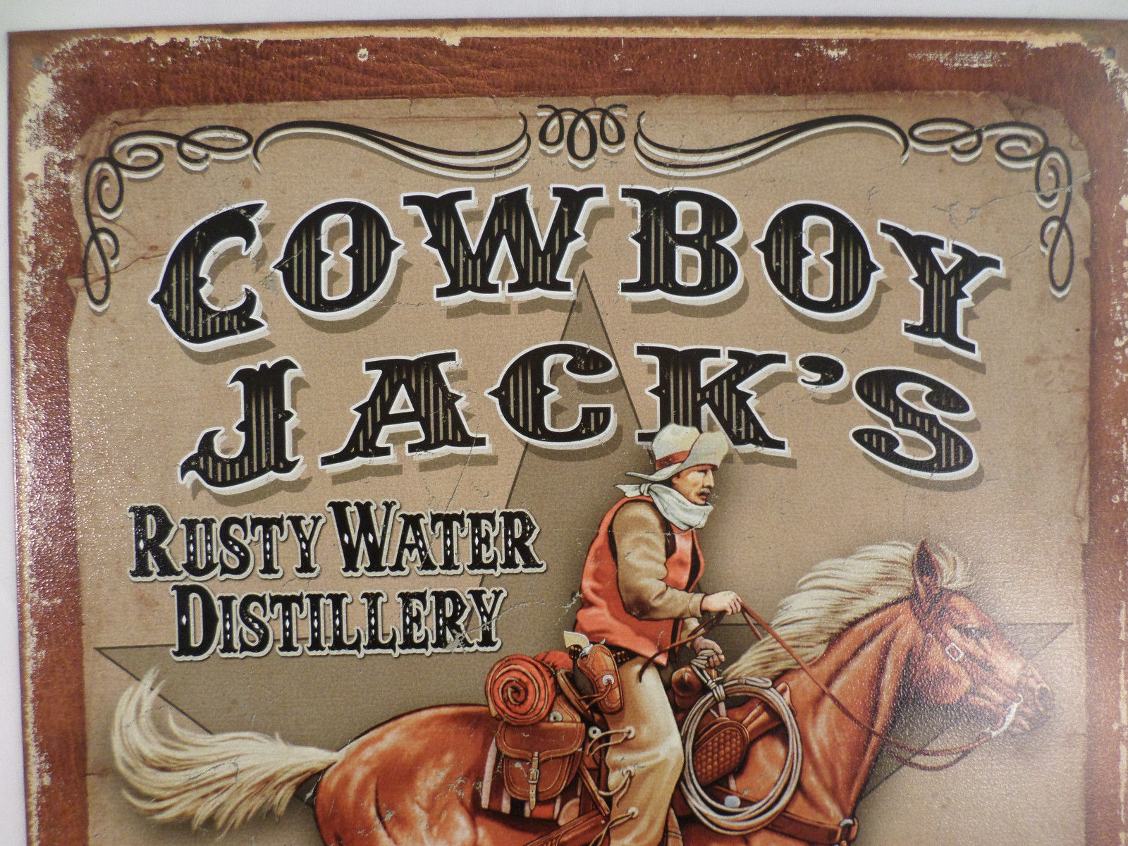 Western Man Cave Signs : Cowboy jack s whiskey western tin sign man cave wall art