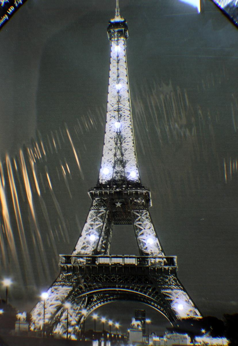 Led Light UP Canvas Print Romantic Eiffel Tower Paris ...
