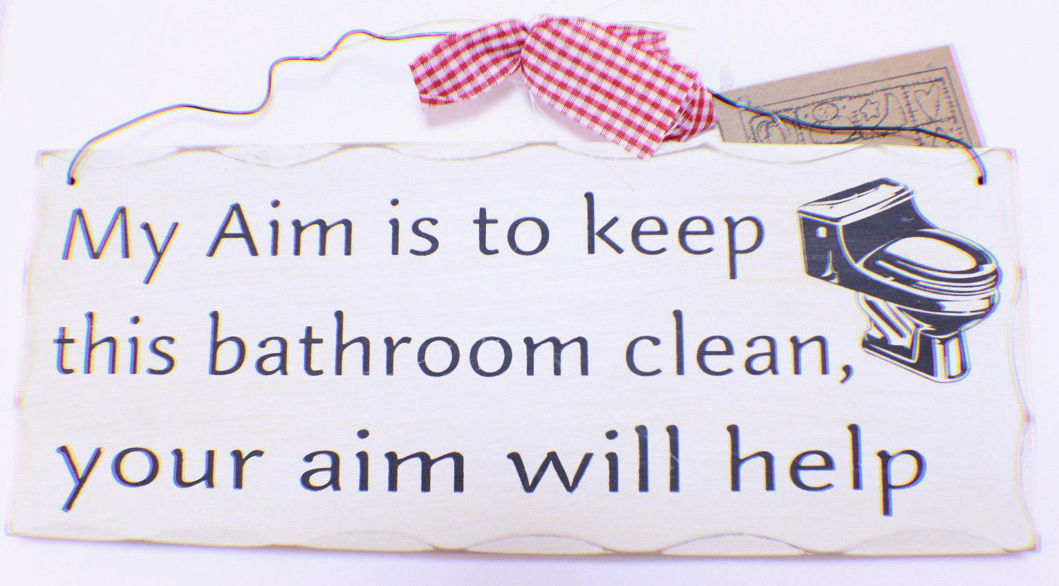 Your Aim Keeping The Bathroom Clean Will Help Wooden Wall Plaque Decor Sign