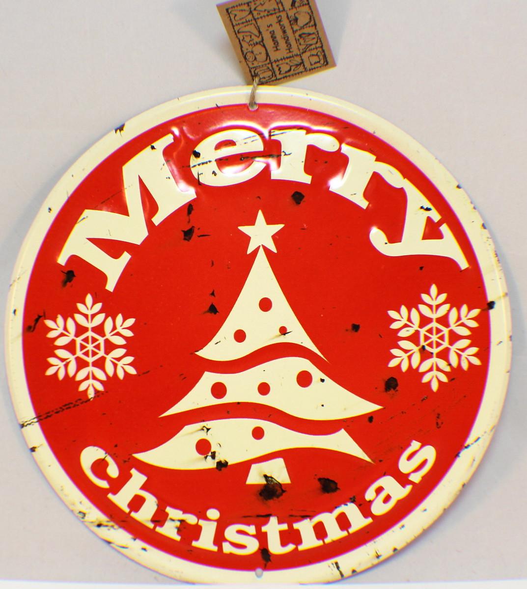christmas sign vintage