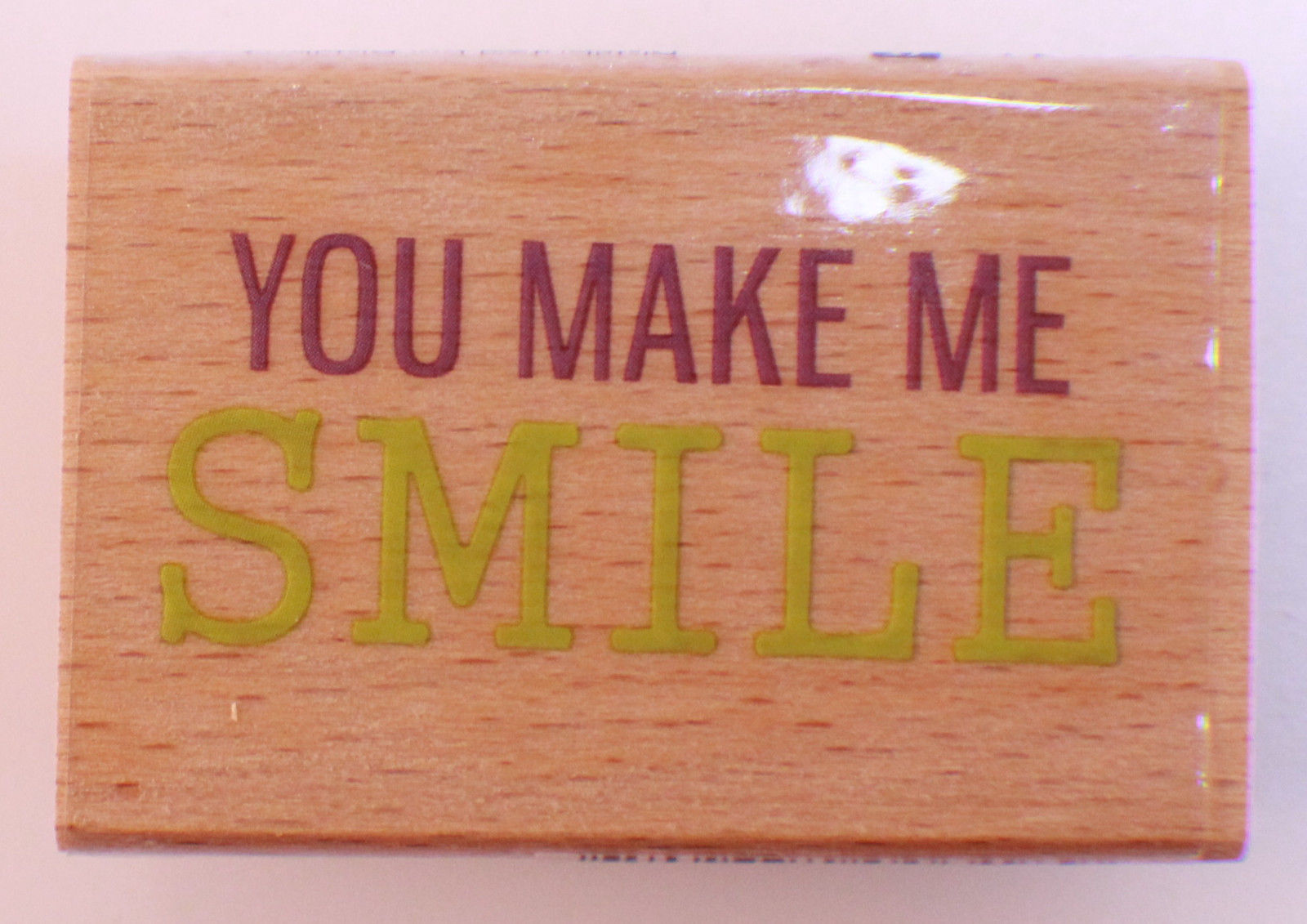 Quotes You Make Me Smile You Make Me Smile Word Writing Quote Studio G Wooden Rubber Stamp