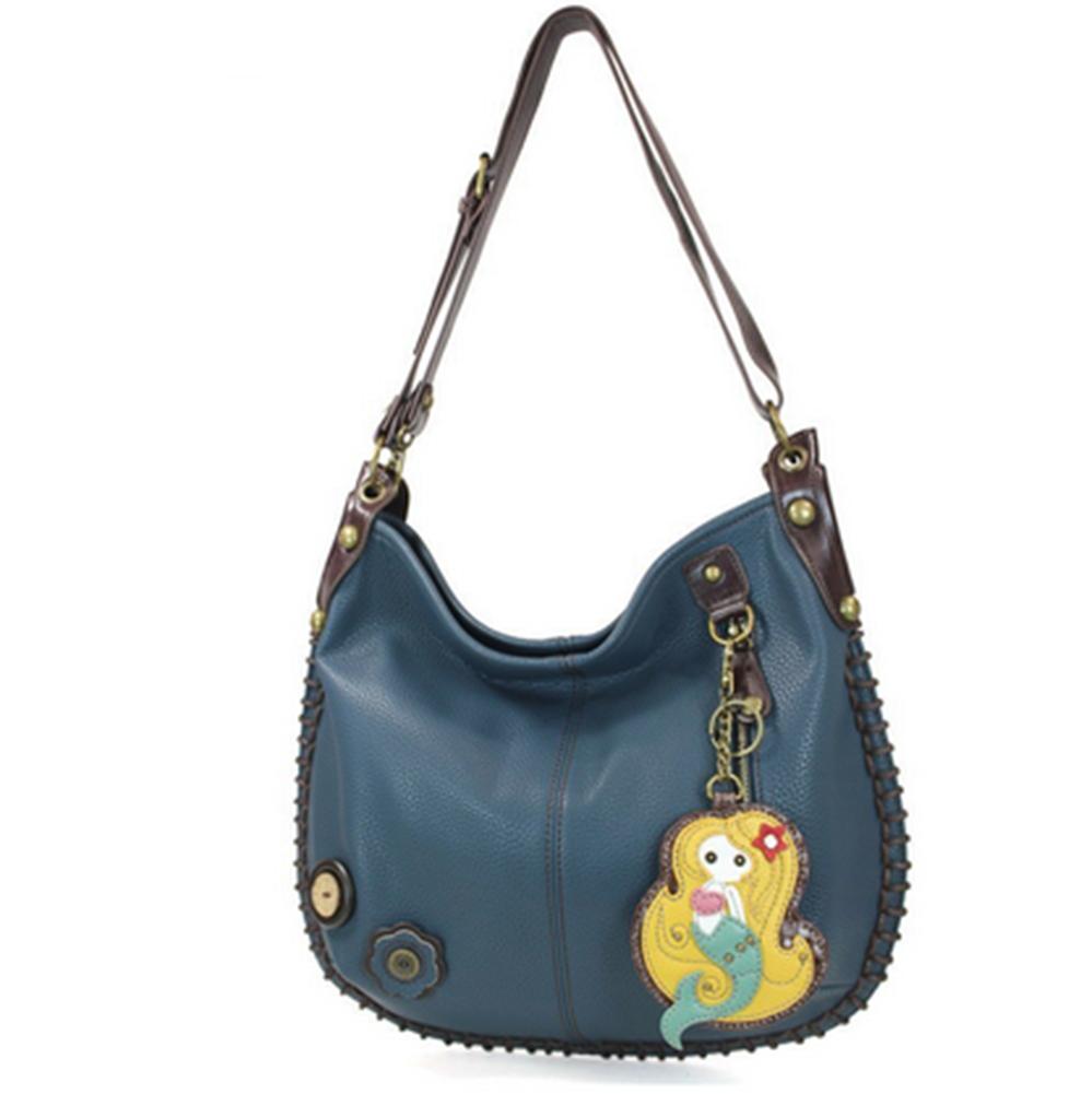 Chala Purse Handbag Leather Hobo Cross Body Convertible Mermaid ...