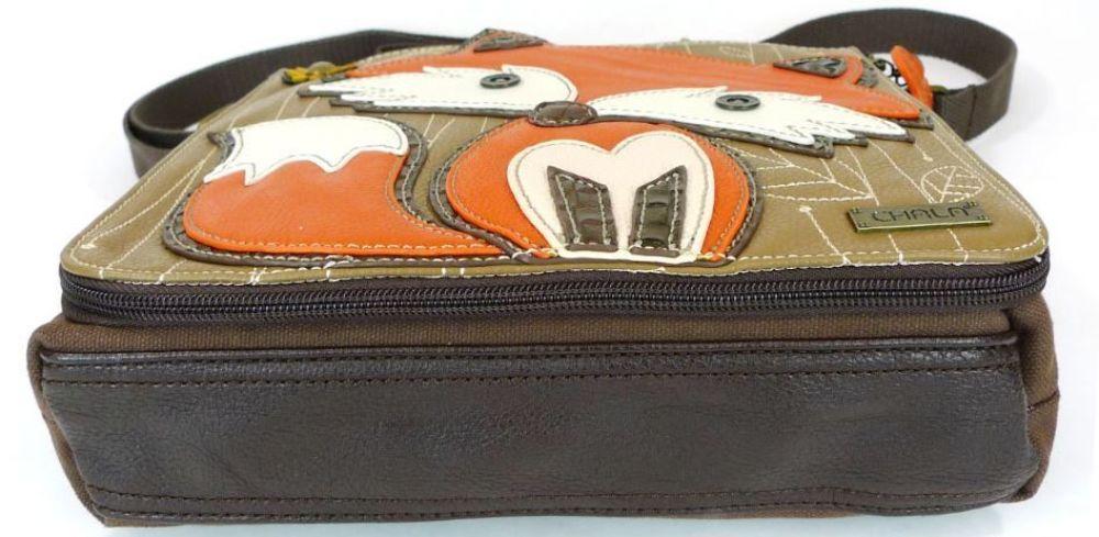 Chala Foxy Fox Messenger Bag Purse Leather Detachable Pocket ...