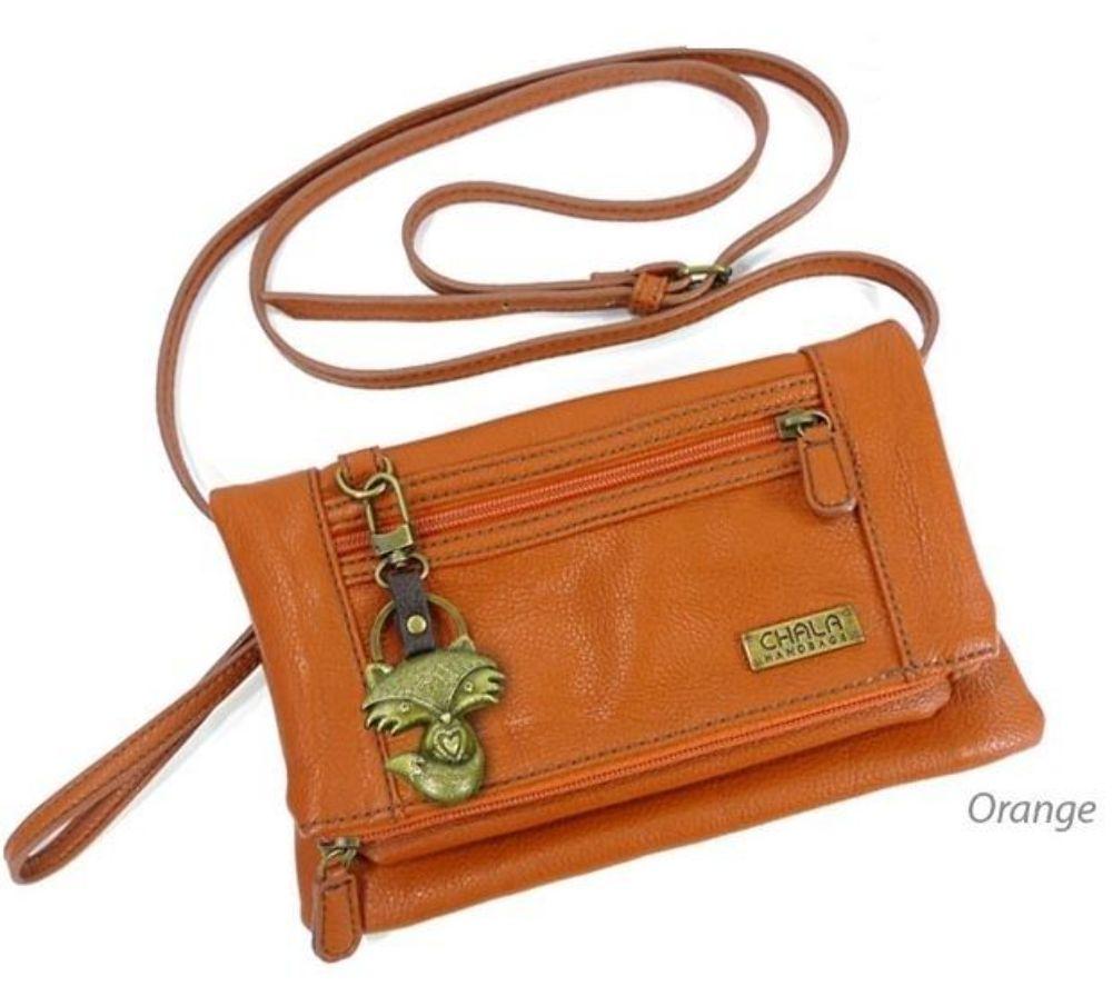 Chala Cross Body Wristlet Wallet Purse Foxy Fox Leather Handbag ...