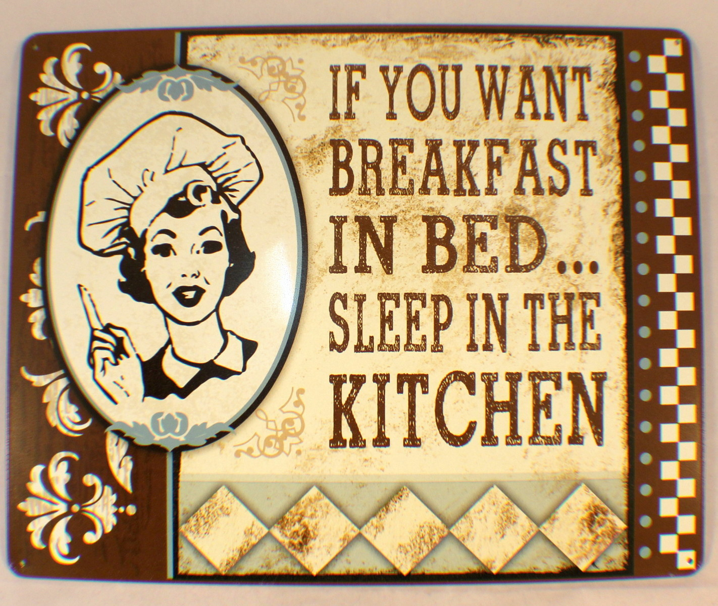 If You Want Breakfast In Bed, Sleep In Kitchen Funny Retro